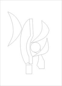 抽象箭头雕刻图案