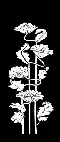 抽象莲花雕刻图案