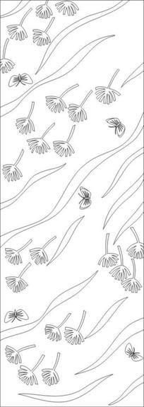 抽象叶子雕刻图案 CDR