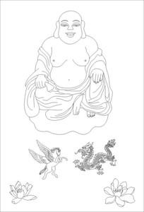 佛相雕刻图案