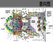公园主入口景观入口平面图
