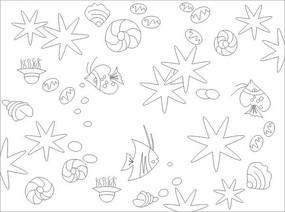 海底生物雕刻图案