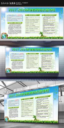 环保教育知识宣传栏展板