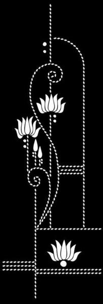 皇冠花雕刻图案