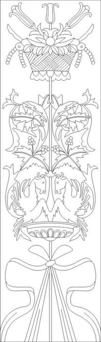 花神欧式花雕刻图案