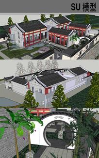 徽派艺术馆建筑