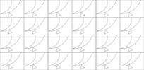 尖线雕刻图案 CDR