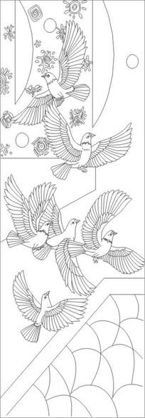 吉祥鸟雕刻图案 CDR
