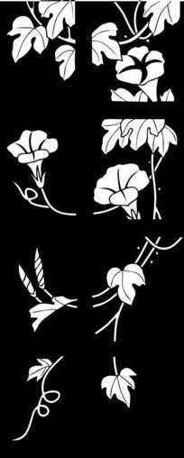 喇叭花玉砂图雕刻图案