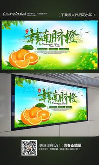 绿色清新赣南脐橙宣传海报