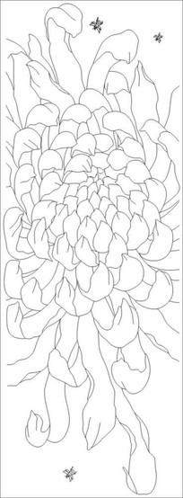 蜜菊雕刻图案 CDR