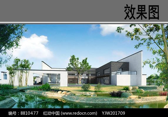 日式建筑效果图图片