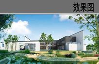 日式建筑效果图 PSD