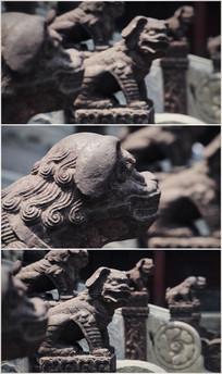 石狮雕塑视频素材