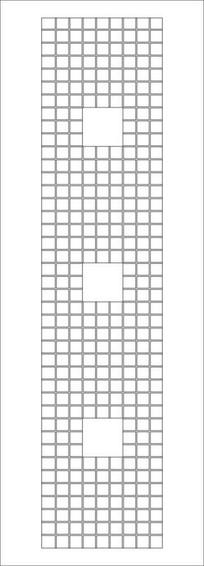 双线格子雕刻图案 CDR