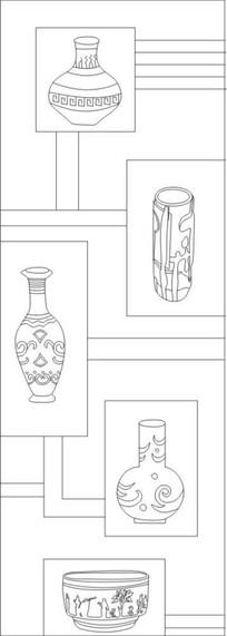 陶瓷花瓶雕刻图案