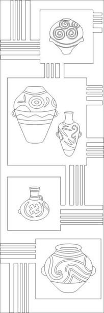 万纹花瓶雕刻图案