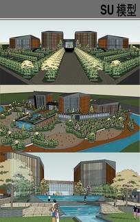 文化中心建筑设计 skp
