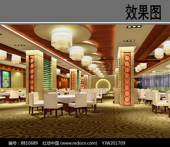 五星豪华酒店中餐厅大厅图片