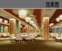五星豪华酒店中餐厅大厅 JPG