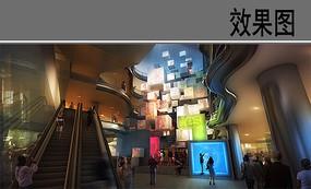 现代室内创意商住楼效果图