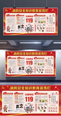 消防安全知识教育宣传展板