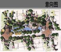 小庭院景观节点平面图