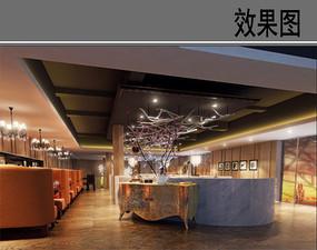 艺术茶餐厅二层效果图