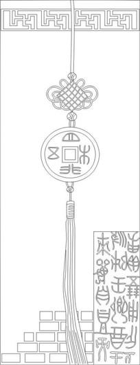 中国结雕刻图案