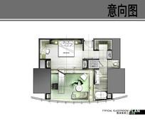 中心J酒店标准客房三平面图 JPG