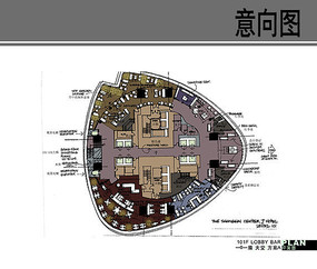中心J酒店大堂平面图 JPG