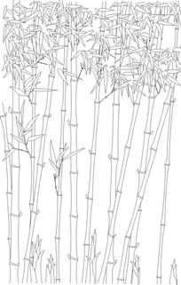 竹林雕刻图案