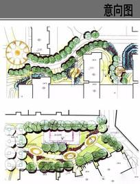 住宅景观入口平面图