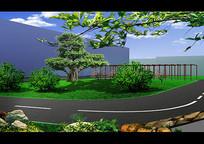 办公楼绿化设计效果图