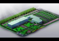 办公区绿化鸟瞰图