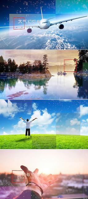 大气视差图片展示pr模板