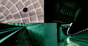 地铁隧道穿梭视频