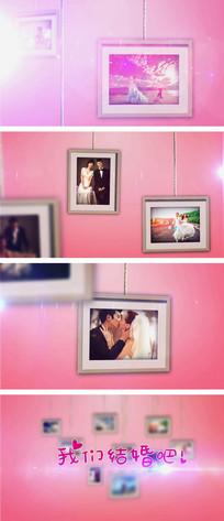 粉色婚礼爱情电子相册AE模板