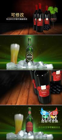 红酒宣传展示广告ae模版