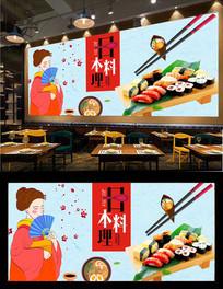 料理餐厅背景墙