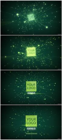 粒子星空穿梭标识揭示片头