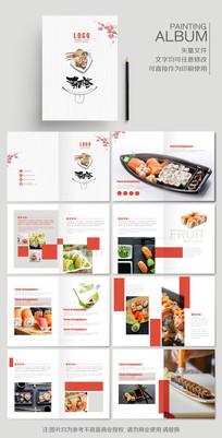 日本韩国料理寿司菜单菜谱画册