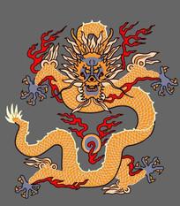中国风矢量龙图案插画