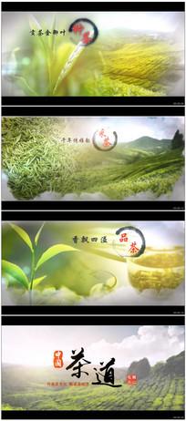 中国风水墨茶道片头视频模板