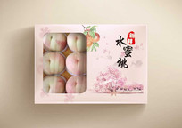 中国风新鲜水蜜桃水果包装盒