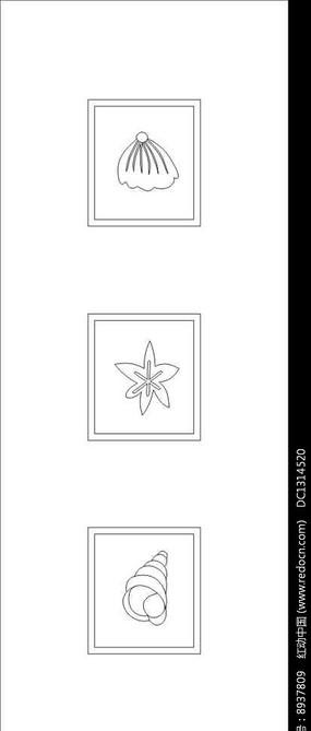 贝壳雕刻图案
