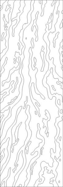 抽象龙纹雕刻图案