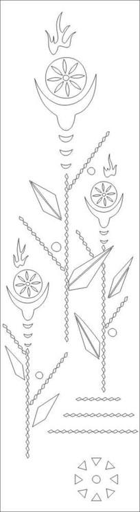 抽象树花雕刻图案 CDR