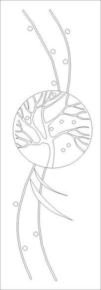 发财树雕刻图案