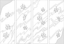 枫叶雕刻图案